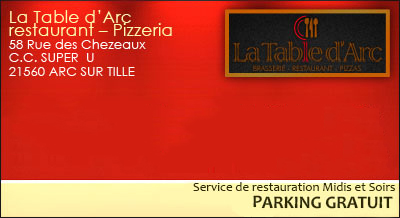 Restaurant la table d 39 arc arc sur tille en c te d 39 or 21 pizzas et cuisine traditionnelle - La table d arc arc sur tille ...